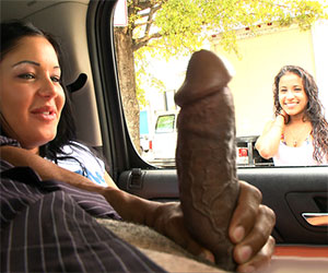 Flashing his monster dick to strangers - Milf Porn